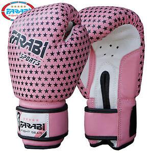 Farabi Junior Kids Boxing Gloves 4 oz Pink Training  Kick Boxing Pads Age 3-7