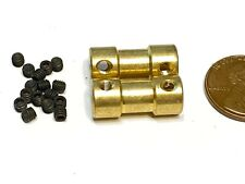 2 Pieces 4mm x 4mm 4x4 Motor Coupling Coupler Drive Shaft Connector boat rc A22