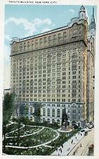 Art Deco tinted postcard Trinity building New York.. unposted
