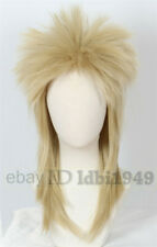 David Bowie Wig 80s Mullet Disco Rock Retro Cosplay Heavy Metal Fancy Dress Wig
