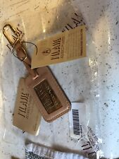 Rare Vintage Alviero Martini 1 Leather Classe Keychain Key Ring w/ Metal Plate