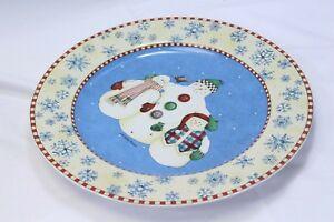 "Sakura Debbie Mumm Snowflake Chop Plate Xmas Platter 12.5"""