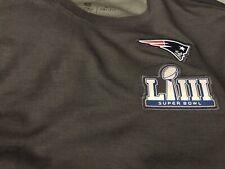New England Patriots Nike Super Bowl 53 LIII Coaches Media Night Top Size Medium