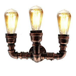 Industrial Wall Pipe Lamp Retro Light Steampunk Vintage Wall Sconce Lights UK