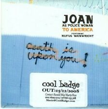 (BE304) Joan as Police Woman, To America - 2008 DJ CD