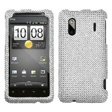 Silver Crystal Diamond BLING Hard Case Phone Cover for HTC EVO Design 4G Hero S