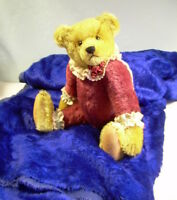 "MOHAIR Vintage 3.25 yds 3/8"" pile 54"" wide ROYAL NAVY BLUE teddy bear + crafts"