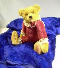 "MOHAIR Vintage 3.25 yds 3/8"" pile 54"" wide ROYAL NAVY BLUE teddy bear + crafts"