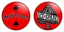 "2 x Motorhead Combo Set 25mm 1"" Pin Badges Ace of Spades Rock Band"