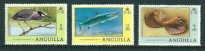 1977 - Anguilla Tourism Stamps 3 Values Heron Barracuda & Conch MNHMi#AI 273/5