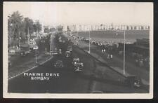Postcard BOMBAY INDIA  Marine Drive Shoreline Hotels 1950's