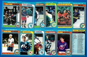 1979-80 TOPPS 79-80 NHL HOCKEY CARD 1-132 SEE LIST