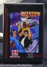 "Mutation Nation Video Game Box 2"" X 3"" Fridge / Locker Magnet. Neo Geo SNK"