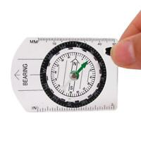 Scouts Military Compass Scale Ruler Baseplate Mini Compass For Hiking V4V6