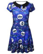 Sugar Skull Skeleton Bats Butterfly Moon Bat Collar Dress Alternative Halloween