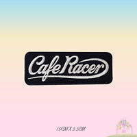 Cafe Racer Biker Embroidered Iron On Sew On Patch Badge For Clothes etc