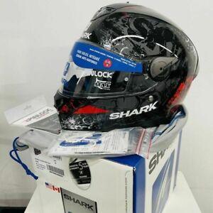 Shark Skwal 2 Nuk'em Full Face Street Motorcycle Helmet Black/Red Medium
