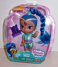 "FISHER PRICE SHIMMER & SHINE ""BEDTIME SHINE"" Genie DOLL 6"" Comb & Stickers NEW!"