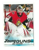 2019-20 UPPER DECK #477 JOEY DACCORD YG RC UD YOUNG GUNS ROOKIE