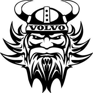 2 x 28cm Volvo Viking vinyl decal sticker truck for  walls glass body panels