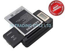 Batería Cargador De Escritorio muelle de viaje para Samsung Galaxy Note 2 N7100 USB LCD UK