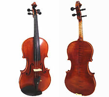 #609 Used/Old Beautiful 4/4 Hand-Made Two Pieces Back Violin+New Moon Shape Case