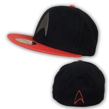 Star Trek Metal Badge Red & Black Licensed Baseball Hat
