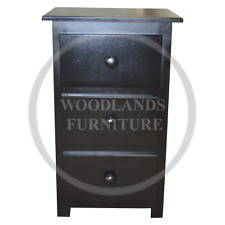 HANDMADE SHAKER 3 DRAWER BEDSIDE IN BLACK, MANY COLOURS AVAILABLE (ASSEMBLED)