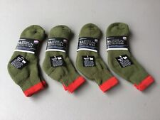 New Stone Mtn. By Ballston 70% Merino Wool Ankle Socks 4 Pair Large Green #1081L