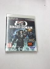 BD BINARY DOMAIN PS3 PLAYSTATION 3 PAL NUOVO SIGILLATO