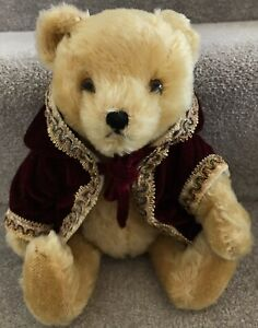 Vintage Hermann Golden Mohair Jointed Teddy Bear With Label Germany