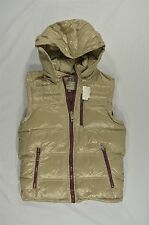 NWOT MEN'S GUESS PRISMATIC WHITE SMOKE DOWN HOODIE PUFFER VEST S $148 #18-52632
