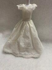 Vintage EVENING DRESS BARBIE White Cotton TULLE GOWN