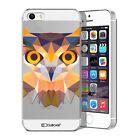 Coque Housse Etui Pour iPhone 5 / 5S / SE Polygon Animal Rigide Fin Hibou