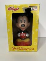 "2002 Walt Disney World Resort Mickey Mouse Bobblehead Kellogs Plastic 8"""