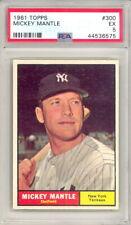 1961 TOPPS BASEBALL MICKEY MANTLE CARD #300 PSA 5 (547 P17)