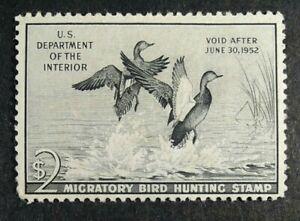 US Stamp Scott #RW18 1951 Federal Duck Stamp Gadwall - Very Light Hinge VLH OG