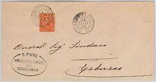 ITALIA REGNO storia postale - S. 39  su BUSTA da QUINZANO D'OGLIO / ACQUALUNGA