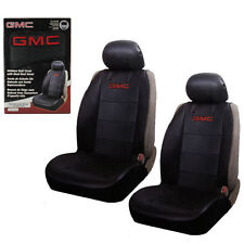 New 2 Front GMC Elite Synthetic Leather Car Truck SUV Sideless Seat Covers Set