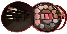 """Red Paisley Pill Box Case/Purse Makeup Kit�: Eyeshadow, Blush, Lip & Colors Nib"