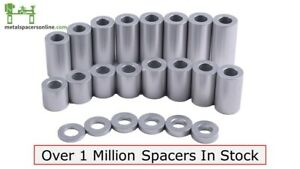 """New Aluminum Spacer Bushing 1/2"""" OD x 1/4"""" ID--Fits M6 or 1/4"""" Bolts"""
