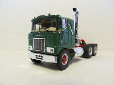 TOP SHELF 1/64 SCALE MACK F700 CAB OVER GREEN, RED FRAME  (SAME SCALE AS DCP)