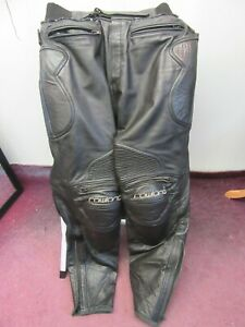 """RAWLAND QUALITY HEAVY LEATHER MOTORCYCLE ARMOUR TROUSERS 38 (WAIST 36"""" ) KNOX"""