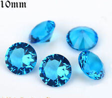 Unheated 5ct 10mm Aquamarine Sapphire Round Shape AAAAA VVS Loose Gemstones/LI