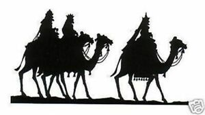 Christmas - Silhouette - Three Wise Men Unmounted Clear Stamp Approx 80x48mm
