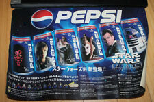 Star Wars Episode 1 Japan Pepsi Soda Pop Advertising Sticker for Vending Machine