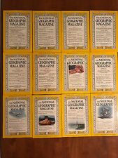 National Geographic Magazine 1959 Full Year 12 Issues Jan-Dec With Maps