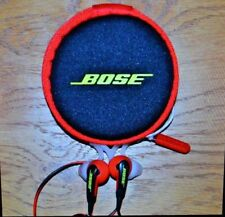 Bose Sport In Ear Headphones; Red and Black with Carry Case; Great sound