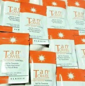 Tan Towel Half Body Towelettes, Classic 9 Packs SEALED 0.25 fl New