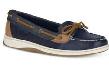 Nib  Angelfish Boat Shoes Navy Imported Leather/Rubber sole Size 6m